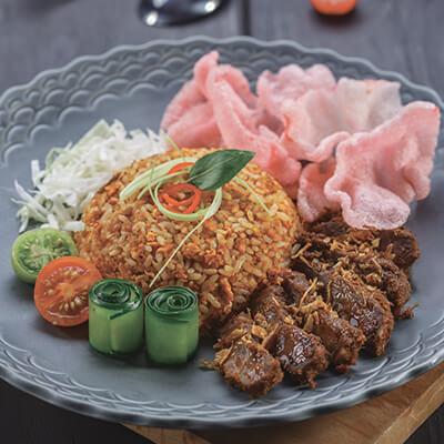 menu marco padang Nasi Goreng Randang Itam