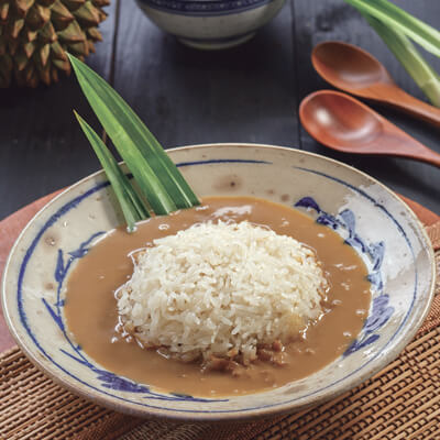 menu marco padang Nasi Tue Kuah Durian